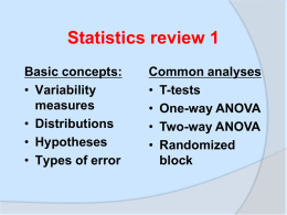 Statistics review - University of British Columbia
