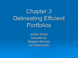Chapter 3 Delineating Efficient Portfolios