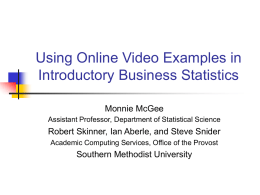Using Online Video Examples in Introductory Statistics