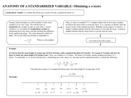 Anatomy: Standardized Variable