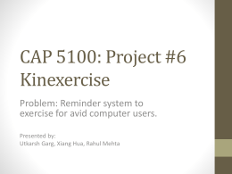 COP 5100 Project #6 Kinexercise