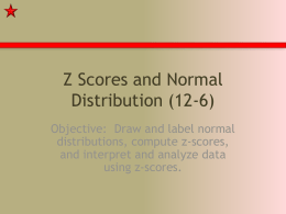 Z-Scores and Normal Distribution PowerPoint