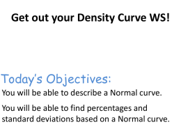 Normal curves - Greer Middle College