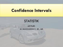 Confidence Intervals for the Mean (Large Samples)