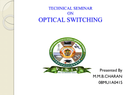 optical switches - 123seminarsonly.com