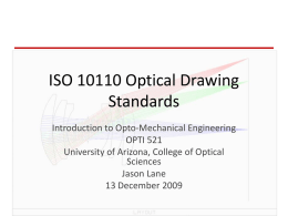ISO 10110 Optical Drawing Standards
