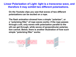 (polarization). - Physics at Oregon State University