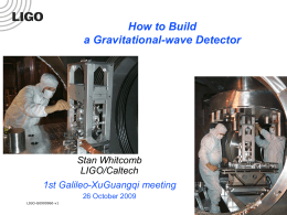 Searching for GW with LIGO - University of Western Australia