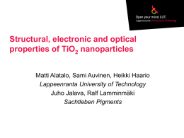 Structural, electronic and optical properties of TiO2
