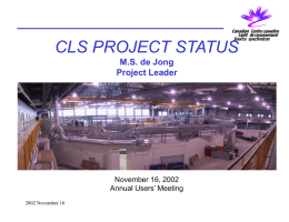 CLS Naming & Numbering - Canadian Light Source