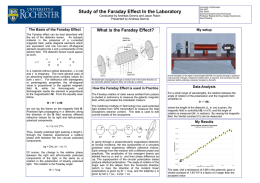 Study of the Faraday Effect In the Laboratory Conducted by