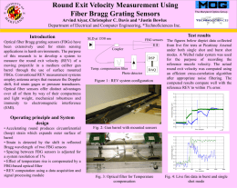 Round Exit Velocity Measurement Using Fiber Bragg Grating