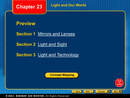 Ch 23 ppt: Light and Our World