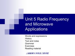 unit 5 radio frequency and microwave application
