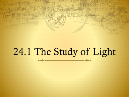 24.1 The Study of Light / 24.2 Tools for Studying Space