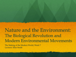 Nature and the Environment: The Biological Revolution and Modern