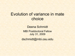 Evolution of variance in mate choice