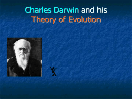 Charles Darwin and his Theory of Evolution