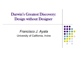 Darwin´s Greatest Discovery:Design without Designer