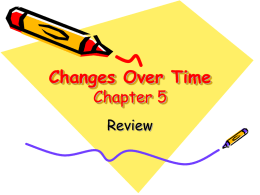 Changes Over Time Chapter 5
