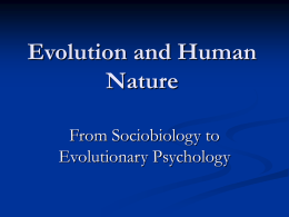 13.5 Evolutionary Psychology and Its Problems