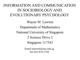 EvolPsych - Department of Mathematics