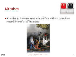 Altruism: Helping Others - McGraw-Hill