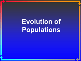 CB-Evolution of Populations