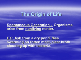 The Origin of Life and Evolution