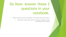 Do Now: Answer these 2 questions in your notebook.
