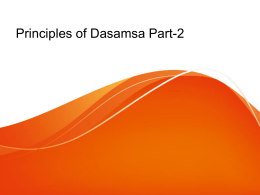 Principles of Dasamsa Part-2