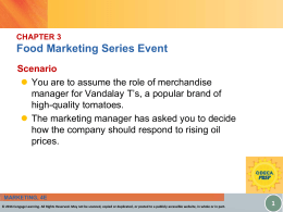 CHAPTER 3 Food Marketing Series Event