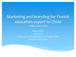 Marketing and branding Finnish education in China