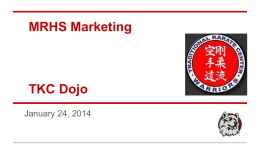 MRHS Marketing TKC Dojo - Matawan Aberdeen Regional School