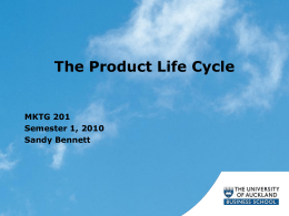 What is a Product? - University of Auckland