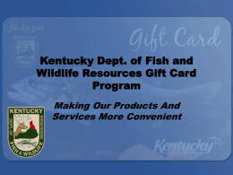 Kentucky Dept. of Fish and Wildlife Resources Gift Card