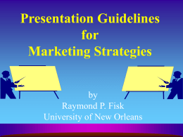 Presentation Guidelines for Marketing Plans
