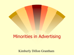 Minorities in Advertising