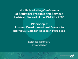 Nordic Marketing Conference 2005