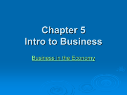 Chapter 3 Intro to Business