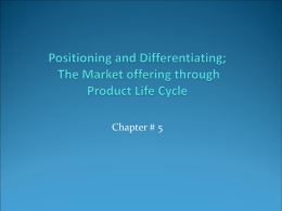 positioning and differentiation paper