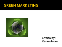 GREEN MARKETING - 123seminarsonly.com
