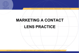 Marketing a Contact Lens Practice
