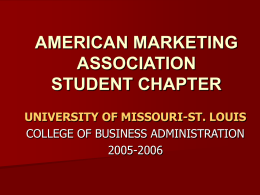american marketing association student chapter