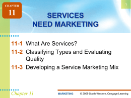 SERVICES NEED MARKETING