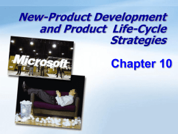New-Product Development and Product Life-Cycle