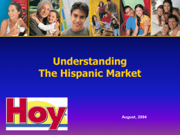Understanding the Hispanic Market