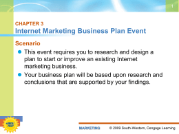 Internet Marketing Business Plan PowerPoint