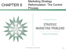 marketing strategy reformulation—the control process