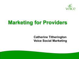 Marketing for Providers